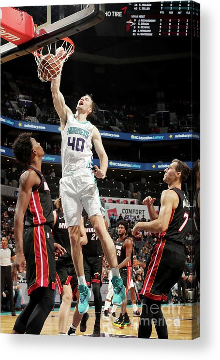Nba Pro Basketball Acrylic Print featuring the photograph Cody Zeller by Kent Smith