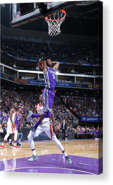 Nba Pro Basketball Acrylic Print featuring the photograph De'aaron Fox by Rocky Widner