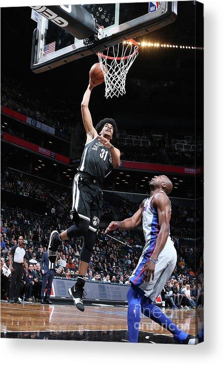 Nba Pro Basketball Acrylic Print featuring the photograph Jarrett Allen by Nathaniel S. Butler