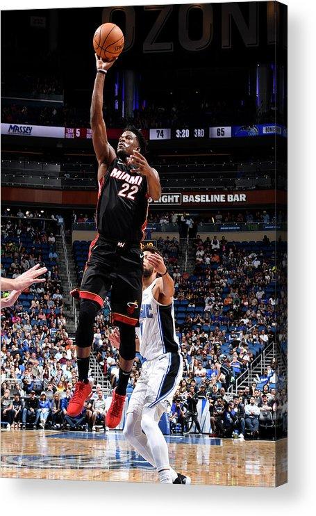 Nba Pro Basketball Acrylic Print featuring the photograph Jimmy Butler by Fernando Medina
