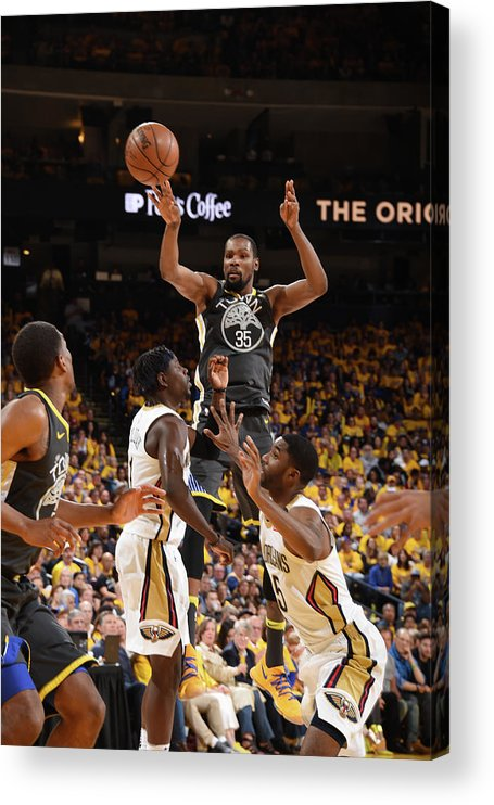 Playoffs Acrylic Print featuring the photograph Kevin Durant by Andrew D. Bernstein