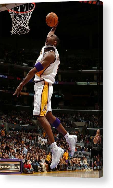 Nba Pro Basketball Acrylic Print featuring the photograph Kobe Bryant by Noah Graham