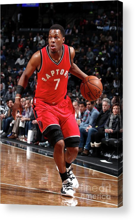 Nba Pro Basketball Acrylic Print featuring the photograph Kyle Lowry by Nathaniel S. Butler