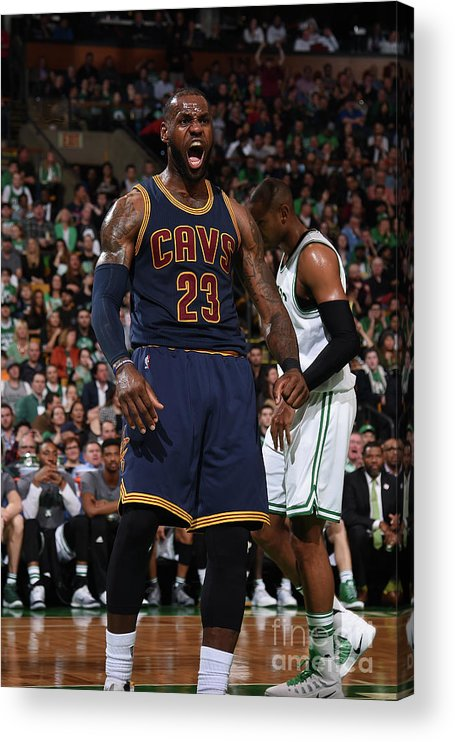 Nba Pro Basketball Acrylic Print featuring the photograph Lebron James by Brian Babineau