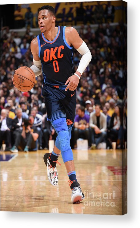 Nba Pro Basketball Acrylic Print featuring the photograph Russell Westbrook by Andrew D. Bernstein