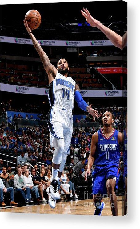 Nba Pro Basketball Acrylic Print featuring the photograph D.j. Augustin by Fernando Medina