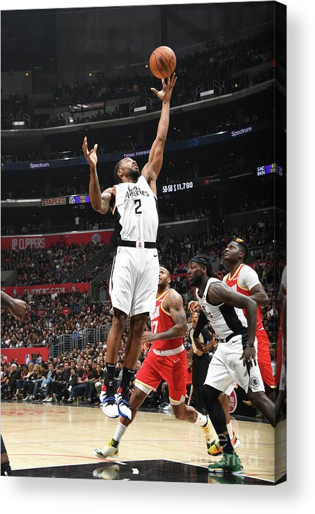 Nba Pro Basketball Acrylic Print featuring the photograph Kawhi Leonard by Andrew D. Bernstein