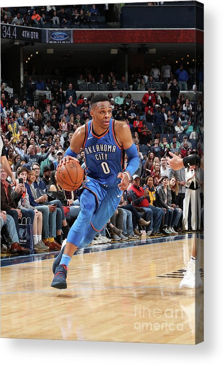Nba Pro Basketball Acrylic Print featuring the photograph Russell Westbrook by Joe Murphy