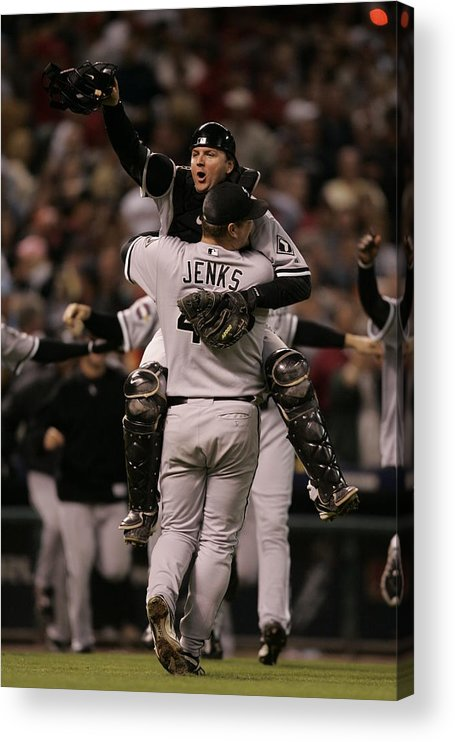 Celebration Acrylic Print featuring the photograph A. J. Pierzynski by Rich Pilling