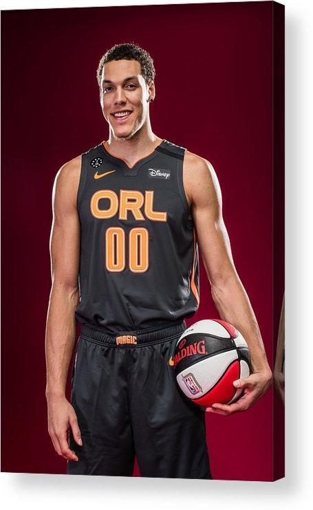 Nba Pro Basketball Acrylic Print featuring the photograph Aaron Gordon by Michael J. LeBrecht II