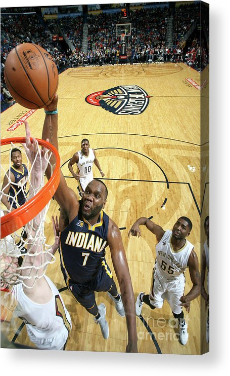 Smoothie King Center Acrylic Print featuring the photograph Al Jefferson by Layne Murdoch