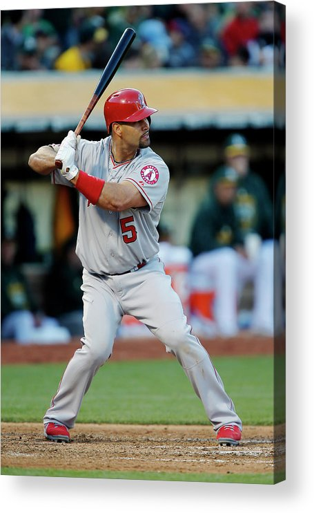People Acrylic Print featuring the photograph Albert Pujols by Brian Bahr