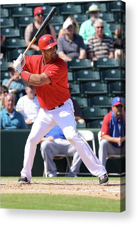 Tempe Diablo Stadium Acrylic Print featuring the photograph Albert Pujols by Norm Hall