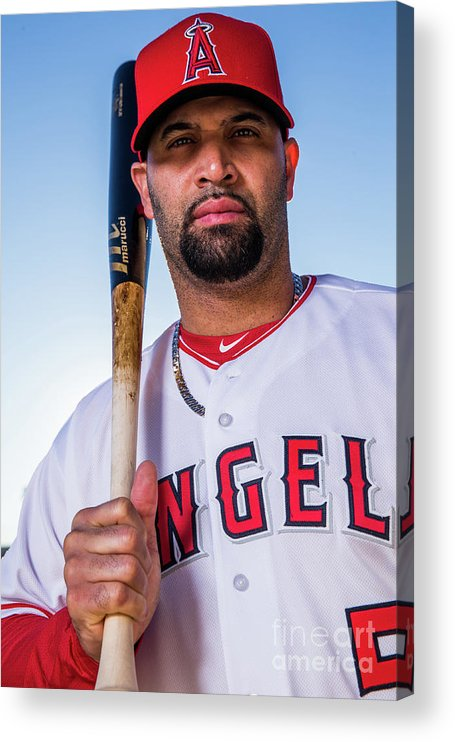 Media Day Acrylic Print featuring the photograph Albert Pujols by Rob Tringali