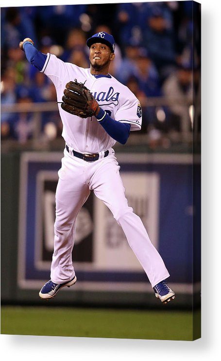 People Acrylic Print featuring the photograph Alcides Escobar by Doug Pensinger