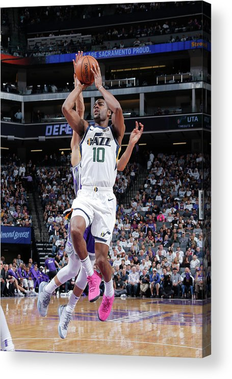 Nba Pro Basketball Acrylic Print featuring the photograph Alec Burks by Rocky Widner