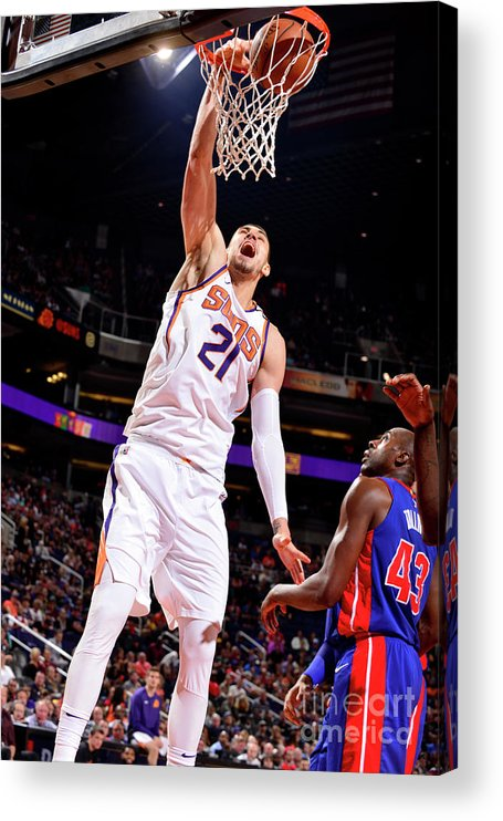 Sports Ball Acrylic Print featuring the photograph Alex Len by Barry Gossage