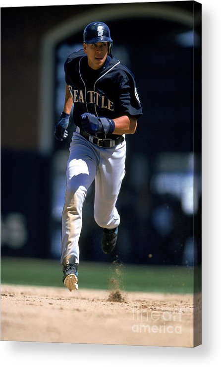 People Acrylic Print featuring the photograph Alex Rodriguez by Brad Mangin