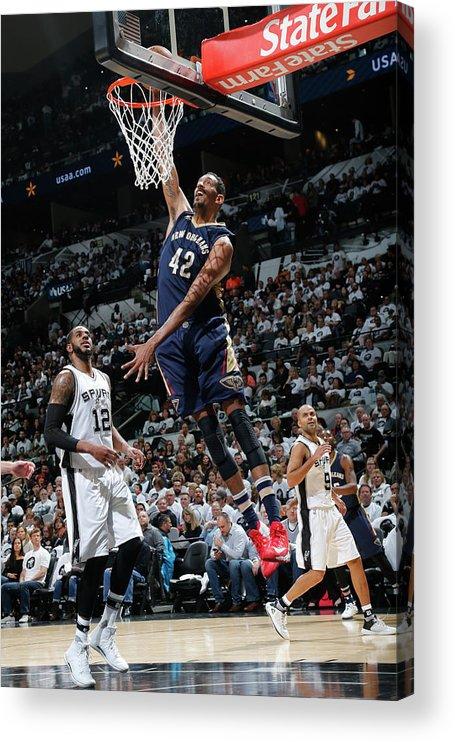 Nba Pro Basketball Acrylic Print featuring the photograph Alexis Ajinca by Chris Covatta