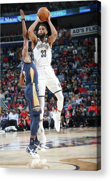 Smoothie King Center Acrylic Print featuring the photograph Allen Crabbe by Layne Murdoch