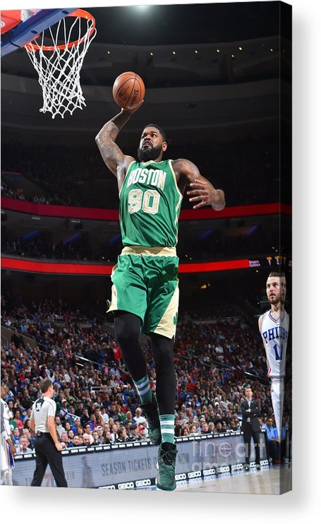 Nba Pro Basketball Acrylic Print featuring the photograph Amir Johnson by Jesse D. Garrabrant