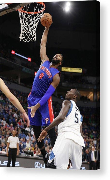 Nba Pro Basketball Acrylic Print featuring the photograph Andre Drummond by Jordan Johnson