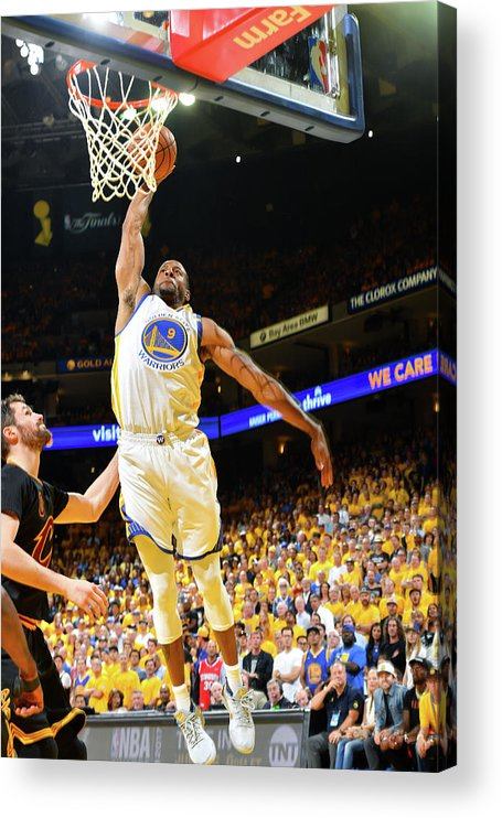 Playoffs Acrylic Print featuring the photograph Andre Iguodala and Stephen Curry by Jesse D. Garrabrant