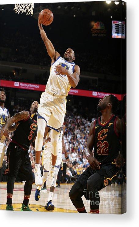 Nba Pro Basketball Acrylic Print featuring the photograph Andre Iguodala by David Sherman