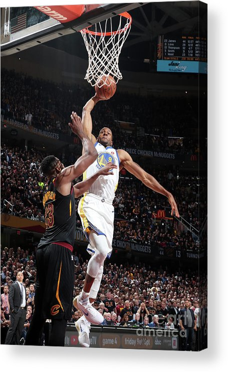 Playoffs Acrylic Print featuring the photograph Andre Iguodala by Nathaniel S. Butler