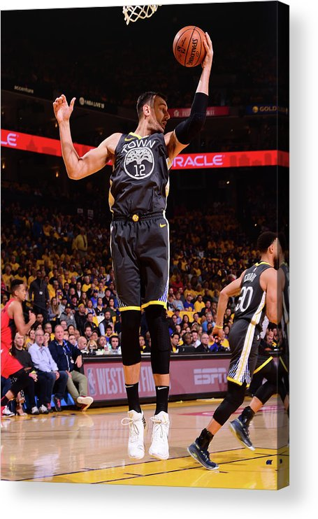 Playoffs Acrylic Print featuring the photograph Andrew Bogut by Noah Graham