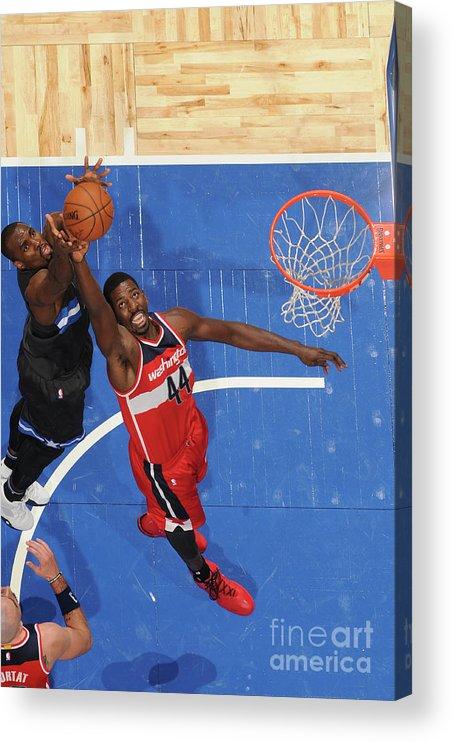 Nba Pro Basketball Acrylic Print featuring the photograph Andrew Nicholson by Fernando Medina
