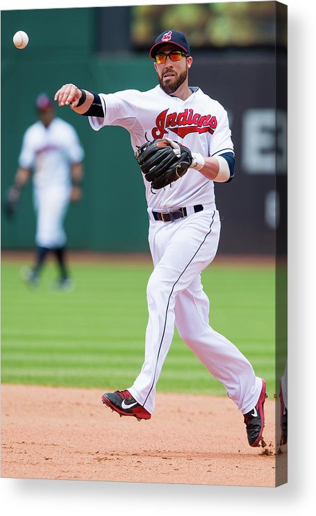 Andrew Romine Acrylic Print featuring the photograph Andrew Romine And Jason Kipnis by Jason Miller