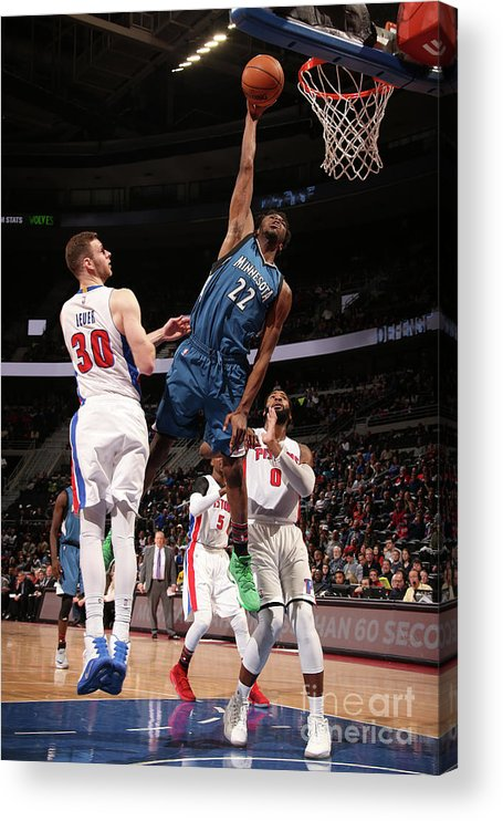 Nba Pro Basketball Acrylic Print featuring the photograph Andrew Wiggins by Brian Sevald
