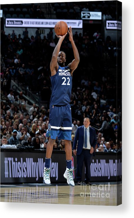 Nba Pro Basketball Acrylic Print featuring the photograph Andrew Wiggins by Mark Sobhani