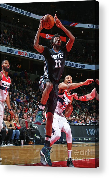 Nba Pro Basketball Acrylic Print featuring the photograph Andrew Wiggins by Ned Dishman