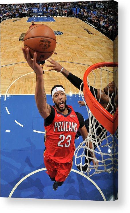 Nba Pro Basketball Acrylic Print featuring the photograph Anthony Davis by Fernando Medina