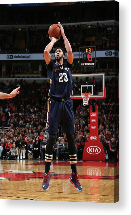 Nba Pro Basketball Acrylic Print featuring the photograph Anthony Davis by Gary Dineen