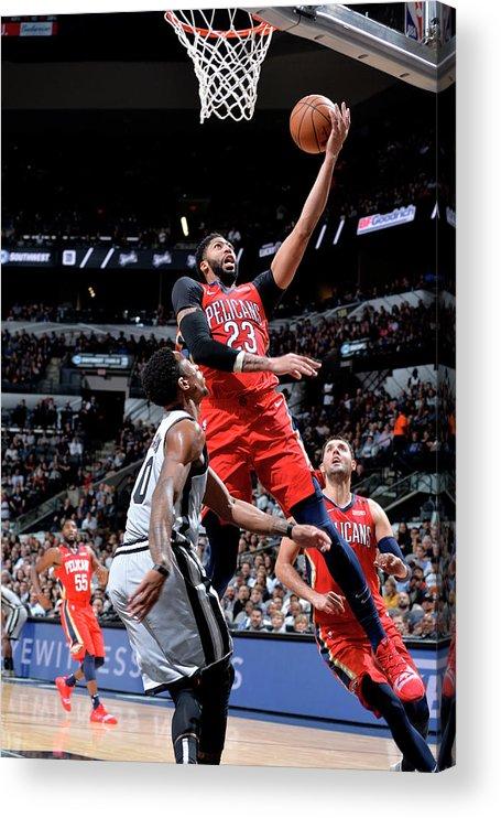 Nba Pro Basketball Acrylic Print featuring the photograph Anthony Davis by Mark Sobhani