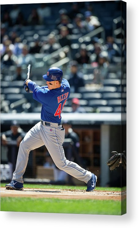 American League Baseball Acrylic Print featuring the photograph Anthony Rizzo by Rob Tringali