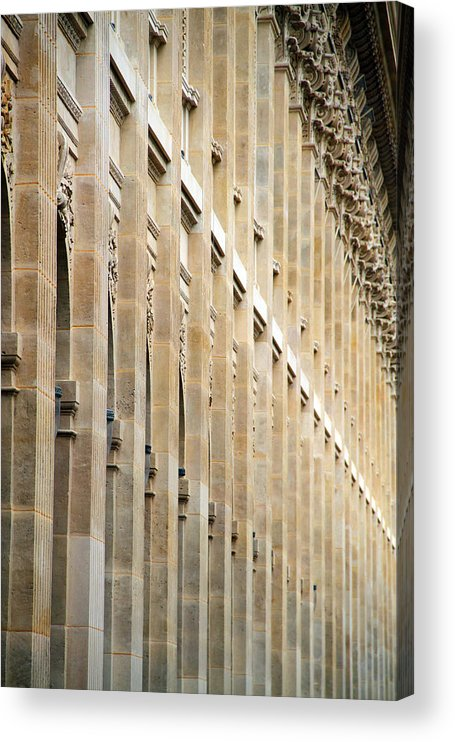Orange Color Acrylic Print featuring the photograph Arcade Column by BrendanHunter
