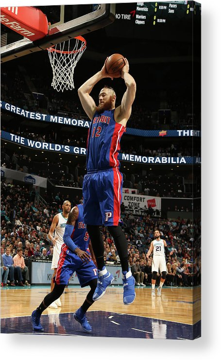 Nba Pro Basketball Acrylic Print featuring the photograph Aron Baynes by Kent Smith