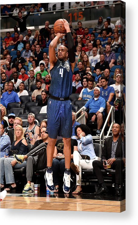 Nba Pro Basketball Acrylic Print featuring the photograph Arron Afflalo by Gary Bassing
