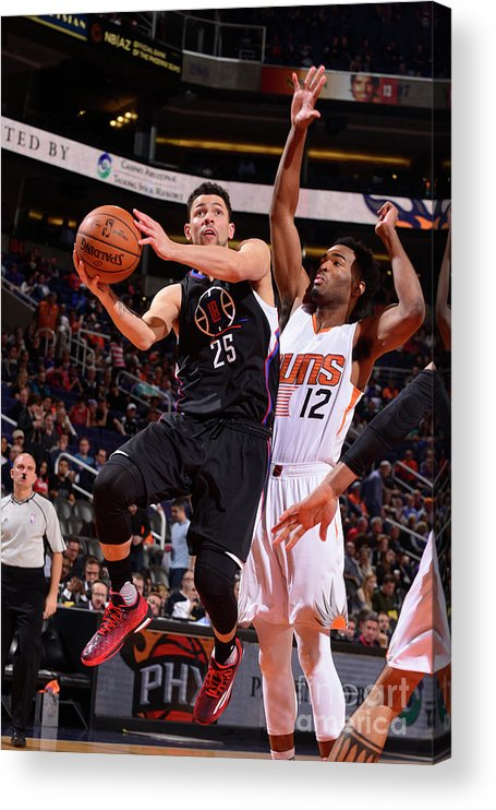 Nba Pro Basketball Acrylic Print featuring the photograph Austin Rivers by Barry Gossage