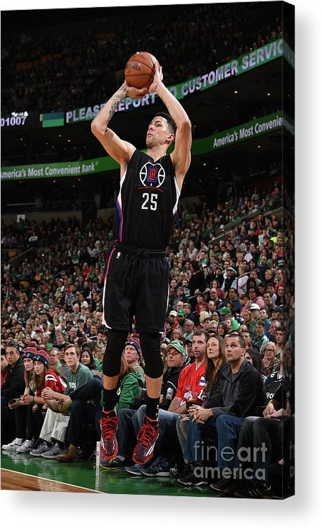 Nba Pro Basketball Acrylic Print featuring the photograph Austin Rivers by Brian Babineau