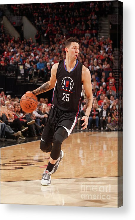 Nba Pro Basketball Acrylic Print featuring the photograph Austin Rivers by Cameron Browne