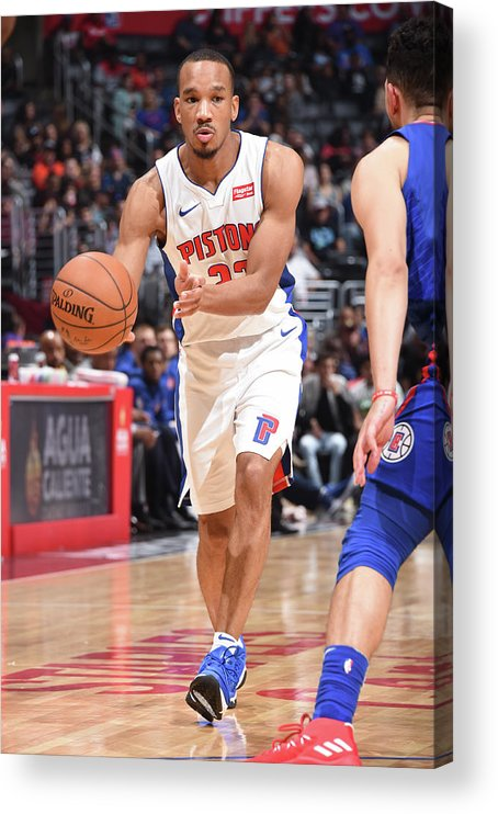 Nba Pro Basketball Acrylic Print featuring the photograph Avery Bradley by Andrew D. Bernstein