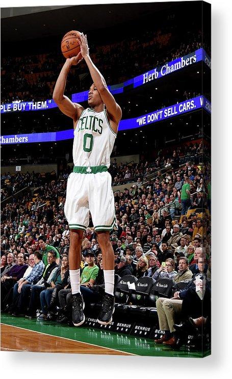 Nba Pro Basketball Acrylic Print featuring the photograph Avery Bradley by Brian Babineau
