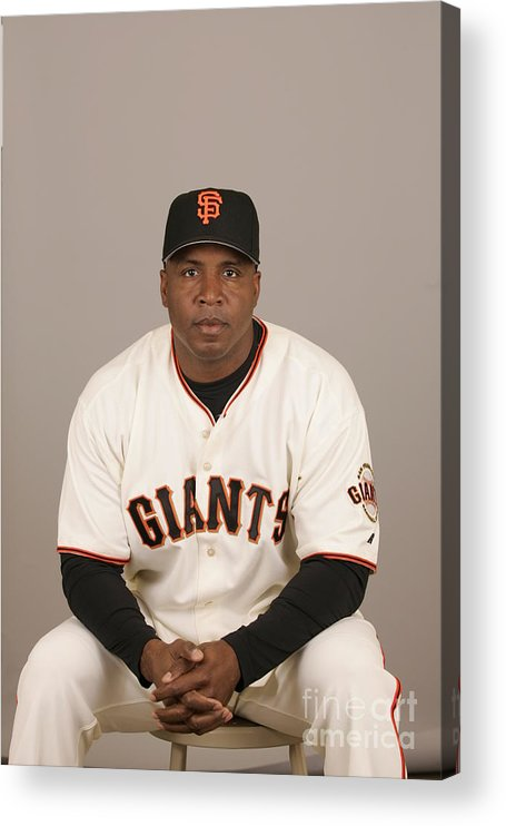 Media Day Acrylic Print featuring the photograph Barry Bonds by Jason Wise