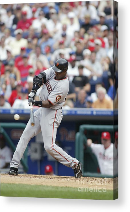 Motion Acrylic Print featuring the photograph Barry Bonds by Rob Leiter