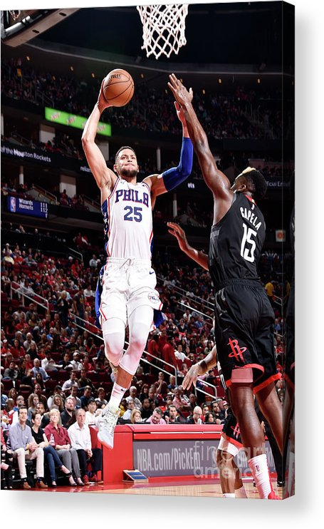 Nba Pro Basketball Acrylic Print featuring the photograph Ben Simmons by Bill Baptist